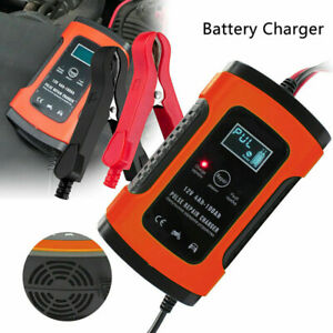 Full Automatic Car Battery Charger 12v Fast Power Charging Digital Lcd Display
