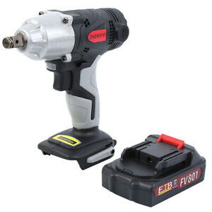 2000w Cordless Electric Impact Wrench Drill Tool 320nm Li ion Battery 108vf