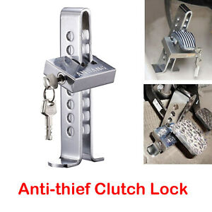 Brake Pedal Lock Security Car Auto Stainless Steel Clutch Lock Anti Theft Device