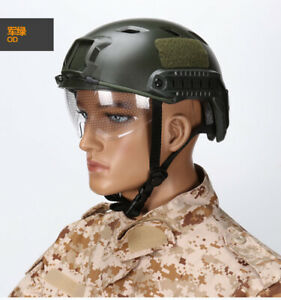 PJ Type Tactical Fast Helmet w Eye Protective Goggles Tactical Airsoft Helmets $55.24
