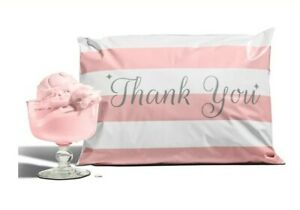 20 pack Reusable Bubble Gum Pink Thank You Poly Mailers 10 x13 Envelopes Mailer