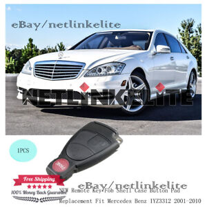 New Remote Key Fob Shell Case Button Pad Replacement Fit Mercedes Benz Iyz3312