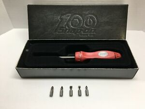 Snap On 100th Anniversary Ratcheting Hard Handle Screwdriver Pearl Red Ssdmr4b