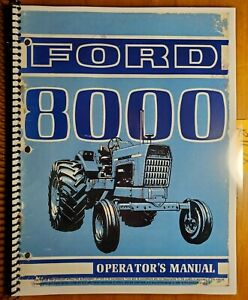 Ford 8000 Tractor 1968 1969 Owner s Operator s Manual Se 3096 42800010