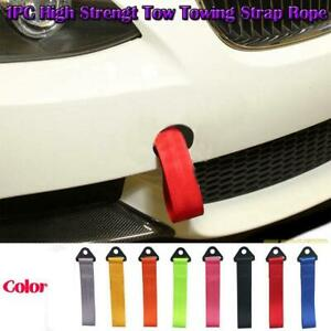 Universal Tow Strap Towing Rope High Strength Nylon For Jdm Racing Car