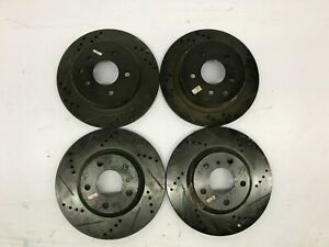 2011 2016 Porsche Cayenne Front Rear Drill Slot Brake Rotors Rotor Oem Unused