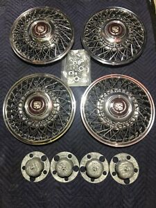 14 Cadillac Wire Spoke Wheel Caps Hubcaps