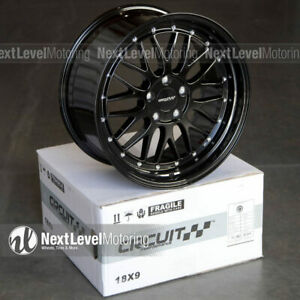 Circuit Cp30 188 18x9 5 114 3 35 Gloss Black Staggered Wheels Fits Nissan 350z