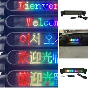 Bluetooth Rgb Car Led Sign Programmable Scrolling Message Display Screen Board