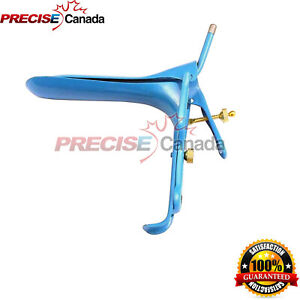 Graves Vaginal Speculum Large Gynecology Surgical Ob gyn Instruments Blue Coated