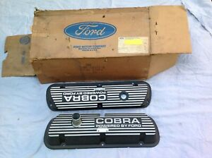 1965 1970 Ford Mustang Gt350 289 302 351w Cobra Valve Covers Pair Nos
