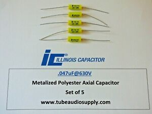 Illinois Polyester 047uf 630v Capacitors Polyester Film Axial Lead Set 5