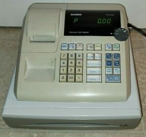 Casio Pcr 262 Electronic Cash Register With Cash Drawer Working Low Profile Nice
