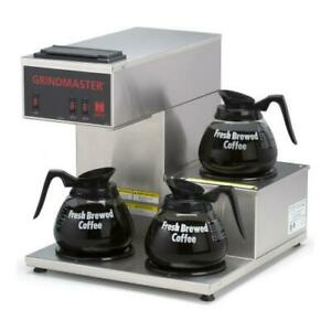 Grindmaster Cpo 3rp 15a Pourover Coffee Brewer W 3 Warmers