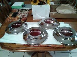 Complete Set Of 4 1954 Ford Dog Dish Hubcaps