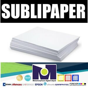 Dye Sublimation Transfer Paper Sublipaper 100 Sheets 8 5 x11 Free Delivery