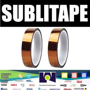 Heat Press Tape Dye Sublimation For Mugs 3d Printer 20mmx33m 100ft 2 Rolls