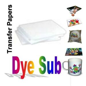 100 Sheets 8 5 X 11 Dye Sublimation Transfer Paper For Specialty Printing Diy