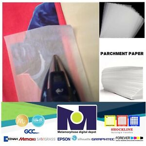 Silicone Parchment Paper For Heat Transfer Applications 8 5x11 100 Sheets pk