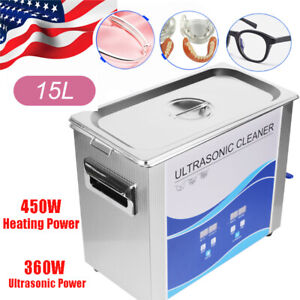 15l Ultrasonic Cleaner Commercial Electric Cleaning Machine 450w Heating Timer