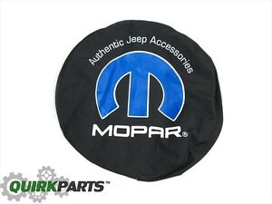 Black Denim Spare Tire Cover P255 70r18 P255 75r17 Jeep Wrangler Oem New Mopar