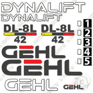Gehl Dl8l 42 Decal Kit Telescopic Forklift Decals Telehandler 7 Year 3m Vinyl