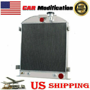 4 Row Radiator For 1933 1934 Ford Grill Shells 3 Chopped Chevy Engine V8