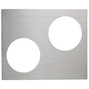 Vollrath 8250314 Miramar Stainless Steel Double Well Adapter Plate For Two Casse