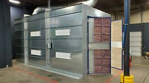 Automotive Paint Spray Booth cross Draft 14 Wide X 14 Tall X 27 Long Excellent