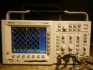 148 Hours Tektronix Tds3054b 500mhz 5gs s Oscilloscope Tested Tds3trg Tds3fft