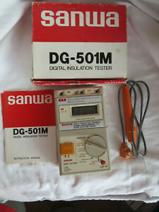 Sanwa Japan Model Dg 501m Digital Insulation Tester With Manual