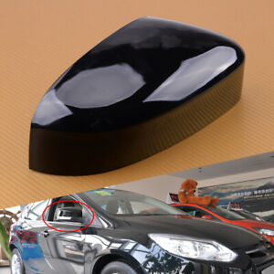 Car Right Gloss Black Side Wing Mirror Cover Cap Fit For Ford Focus Mk3 12 18 Et