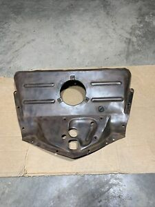 1946 1948 Chevy Upper Grille Baffle Original Gm Lower Hood Latch Mounting Plate