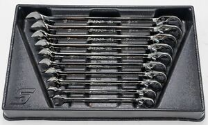 Snap On Tools Soxrrm 10 Piece Reversible Ratcheting Wrench Set Metric 10 19mm