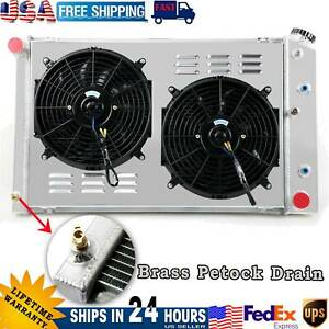 4 Row Radiator Shroud Fan For Chevy Camaro 70 81 78 87 Monte Carlo nova 75 79