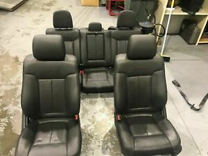 2011 2014 Ford F150 Complete Set Of Black Leather Platinum Edition Seats