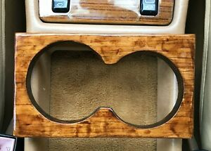 Mercedes Center Console Wood Cup Holder Burl Look Fit Most Mb