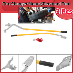 3pcs Tubeless Truck Bead Breaker Manual Tire Changing Tool yellow