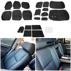 Full Set Seat Cover For 2007 2013 Chevy Silverado Crew Cab Synthetic Leather Fits 2009 Chevrolet Silverado 1500 Lt