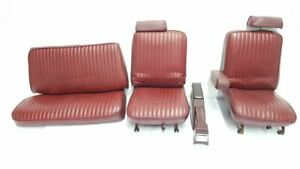 Full Set Of Leather Convertible Seats With Console Has Wear Oem 1983 Riviera