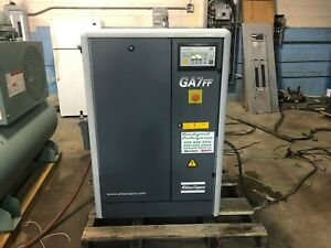 2001 Atlas Copco Ga7ff 10 Hp Rotary Screw Compressor With Dryer