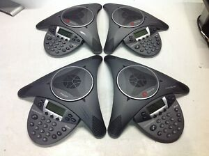 Lot Of 4 Polycom Soundstation Ip 6000 Voip Conference Phone 2201 15600 001