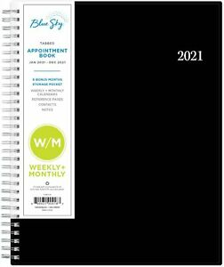 Blue Sky 2021 Weekly monthly Planner Flexible Cover 8 5 X 11 Black 117911 21