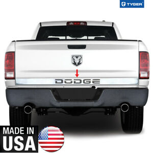 Chrome Accessories Lower Tailgate Trim Says Dodge 3 25 Wide For 10 18 Ram 1p