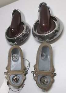 1955 1956 Nos Mercury Station Wagon Tail Lights Pair Custom Holy Grail