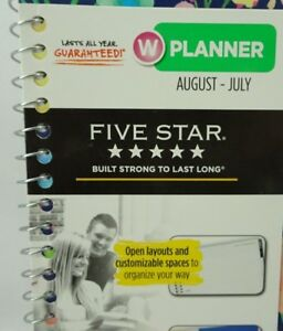Mead Five Star Academic Calendar 2018 2019 Aug july Weekly monthly T3