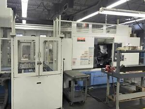 Mazak Integrex 100sy 2001 Live Tools Sub Spindle Gantry Cts With Tooling