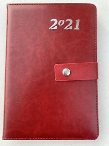 2021 Planner 5x8 Daily Calendar Diary Hard Cover Appointment Book Black