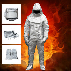 1000 c Thermal Radiation Degree Heat Resistant Aluminized Suit Fireproof Cloth