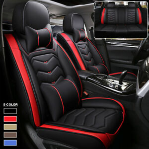Full Surrounded 5 Seats Car Suv Seat Cushions Pu Leather Protector Cover Pad Set